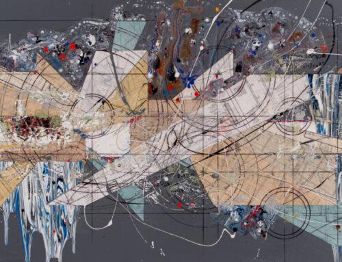 Comp.477, 36″x84″, 90cm X 210cm, Mixte tech on canvas
