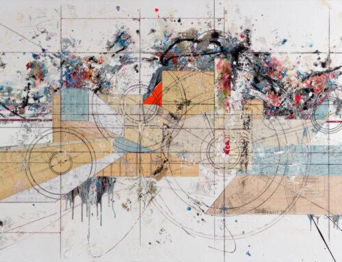 Comp.494, 48″x96″ 120cm x 240cm, Mixte tech on canvas