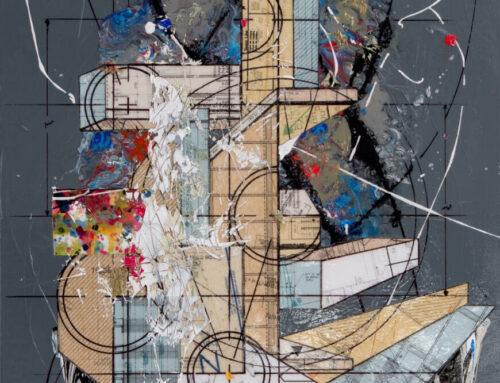 Comp.498, 36″x 24″, 90cm X 60cm, Mixte tech on canvas