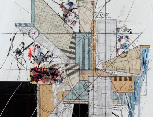 Comp.501, 60″x48″, 150cm X 120cm, Mixte tech on canvas