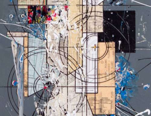 Comp.510, 36″x 24″, 90cm x 60cm, Mixte tech on canvas